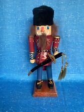 Vintage NUTCRACKER Russian King Ushanka Bayonet Czar Tsar Sword King 12/5 ❤️sj3j