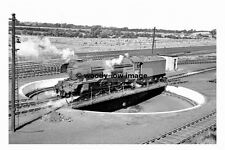 pt8203 - Carlisle Kingmoor Shed Turntable , Steam Train 60100 - photograph 6x4
