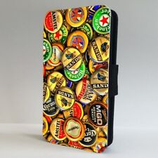 Beer Bottle Caps Cider Collage FLIP PHONE CASE COVER for IPHONE SAMSUNG
