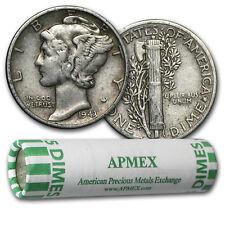 90% Silver Mercury Dime 50-Coin Roll Avg Circ - SKU #5126