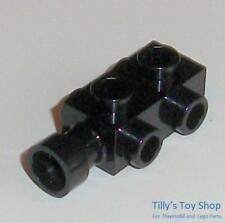 LEGO 4595 BRICK 1x2x0.667 WITH STUDS ON SIDES QTY x 4 BLACK BRAND NEW