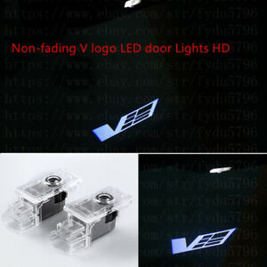 Non-fading V Logo Ghost LED Laser Door Projector Lights For Cadillac ATS 2013-19