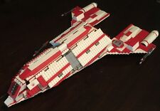 "Custom Lego Star Wars Old Republic ""Jedi Courier"" Star Ship W/10 Mini -Figs"