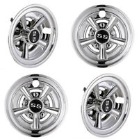 "4pcs 8"" SS Chrome Golf Cart Wheel Cover Hub Cap Fits for EZGO Club Car Yamaha"