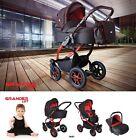 Baby Pram Pushchair Buggy Stroller Grander Lift, Car Seat, Travel System 3 in 1
