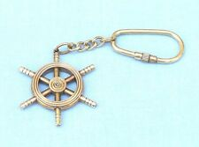 Collectible Nautical Ship Wheel Solid Brass Finished Key chain New. USA Seller!