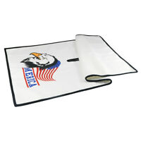"USA Eagle Microfiber New Golf Towel 32"" x 18"" White Towel For Center Cut Style"