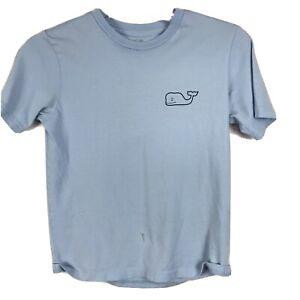 Vineyard Vines T-Shirt Boys Size S Small 8-10 Blue Whale Golf Short Sleeve Tee