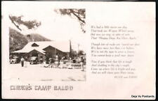 CAMP BALDY CA Curry Ruth & Eddie Poem Vtg RPPC Postcard
