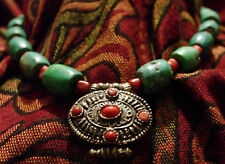NECKLACES ETHNIC INDIAN TURQUOISE JEWELLERY FASHION JEWELRY INDIA SILVER MIXED