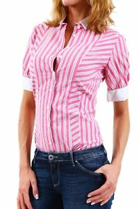 Camicia Body Donna SEXY WOMAN B313 a Righe Rosa/Bianco Tg XL veste piccolo