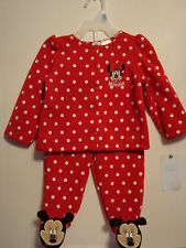 INFANT GIRLS DISNEY 2pc MINNIE MOUSE FLEECE LINED OUTFIT SIZE 6-9 MONTHS  NWT