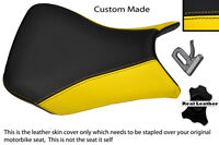 YELLOW AND BLACK CUSTOM FITS BMW S 1000 RR 12-13 FRONT LEATHER SEAT COVER