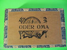 ODER OMA Vintage Antique Empty Hand Made Wooden Humidor Trimmed Cigar Box NICE