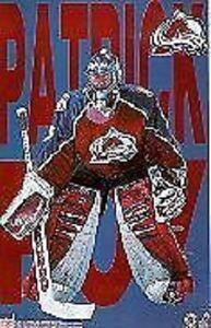 1997 Patrick Roy Letters Colorado Avalanche Original Starline Poster OOP