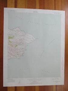 Santa Cruz Island D California 1952 Original Vintage USGS Topo Map