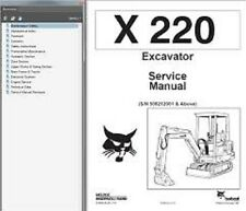 BOBCAT X220 EXCAVATOR SERVICE MANUAL **FREE UK POSTAGE**