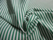 "100% Pima Cotton~Tiny Stripe~Kelly Green & White~18""x29""~D olls"