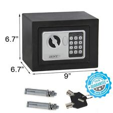 New Digital Electronic Safe Security Box Keypad Lock Wall Jewelry Gun Cash Black