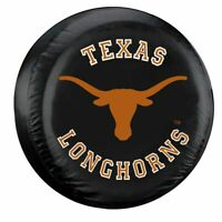 Texas Longhorns Tire Cover Standard Size Black