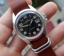 ANCIENNE MONTRE DIFOR plongée SOUS MARINE ALL STEEL 20 ATM vintage FRENCH DIVER