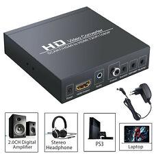 RGB SCART zu HDMI Konverter Adapter 1080P/720P mit 3,5 mm Kopfhörer Stereo Audio
