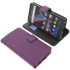 Custodia Per Archos Diamond 2 Plus Book-Style Protettiva Cellulare Libro Viola