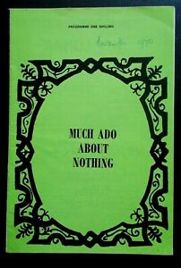 Much Ado About Nothing programme Bristol Hippodrome Theatre 1970 John Humphry