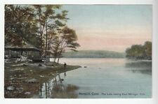 [52020] OLD POSTCARD LAKE LOOKING EAST, MOHEGAN PARK IN NORWICH, CONNECTICUT