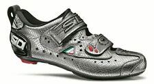 NEW Sidi T2 Carbon Mamba Triathlon Cycling Shoe, Silver/Snake 47 (Display Model)