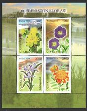 UZBEKISTAN 2018 MOUNTAIN FLOWERS SOUVENIR SHEET OF 4 STAMPS IN MINT MNH UNUSED