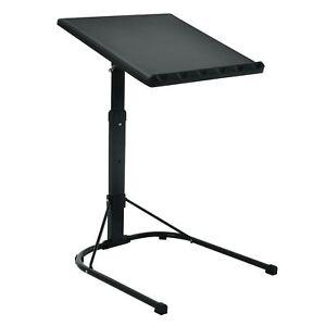 Black Laptop Table Folding Adjustable Portable Studying Desk Stand Dinner Tray
