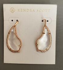 New Kendra Scott Tulip Rose Gold Earrings In Ivory Pearl $120.00