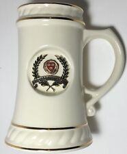 Vtg Harvard Ceramic tall Mug RARE Porcelain Retro Mid Century Modern VE RI TAS