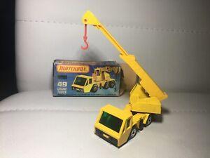 Matchbox Lesney mit Original Verpackung Nr.49 Altes Spielzeug Auto Kran WIE NEU