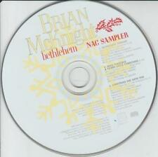 Brian McKnight: Bethlehem NAC Sampler PROMO MUSIC AUDIO CD Christmas 3 tracks
