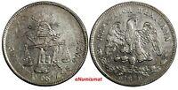 Mexico SECOND REPUBLIC Silver 1879 ZS S 50 Centavos Zacatecas Mint KM# 407.8