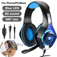 Stereo Gaming Headset Noise Cancelling Over Ear Headphones With Mic For PC Xbox