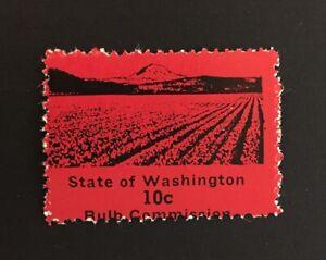 Washington State Revenue - 10 cents red Flower Bulbs Stamp #BU7 - MNH - WA