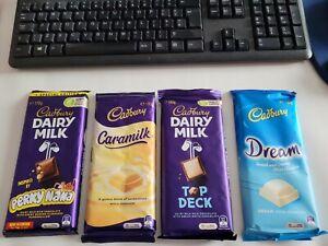 Cadbury Caramilk/dream /top deck /perky nana  Australian Import - UK Seller x 4