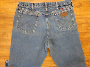 Men's 37x32 Wrangler jeans: style 31MWZPW Relaxed fit, medium wash, work or play