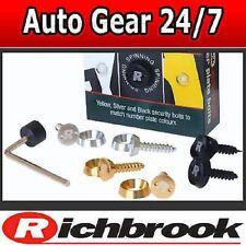 Richbrook Anti Robo Spinning Auto Moto Camioneta 4x4 matrícula Tornillos Pernos