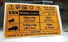 A/C Air Conditionné V8 Décalque Autocollant AWR1322 Land Rover Discovery Range