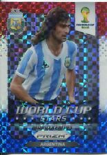 Panini Prizm WC 2014 World Cup Stars Plaid Parallel #43 Mario Kempes