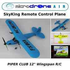 """MicroDRONE SkyKing Piper 12""""  Remote Control Plane & Glider- Blue"""