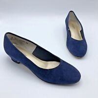 Hush Puppies 79736 Women Blue Low Heel Suede Shoe Size 8M Pre Owned
