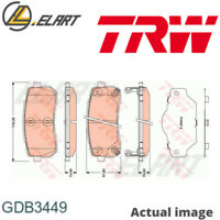 DISC BRAKE PADS SET  FOR KIA HYUNDAI HAVAL D4HB G6EA J3 H 1 TRAVEL TQ H8 TRW