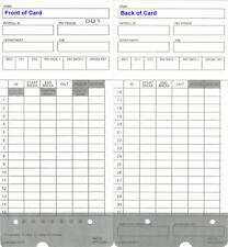 (100) tarjetas de tiempo para upunch HN2000/HN4000/HN4500/HN6000 (hntc 2 compatible)