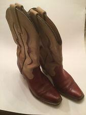 Frye Boots Women's Lizard Skin Bergundy Leather Sz 8 B USA  Cowgirl