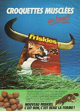 Publicité 1982  FRISKIES au boeuf   Repas complet pour chiens